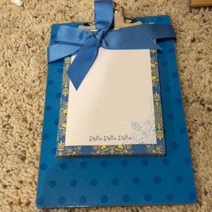 tri delta clip board and stationary